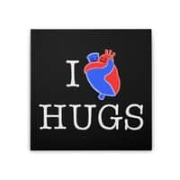 I Love Hugs - square-stretched-canvas - small view
