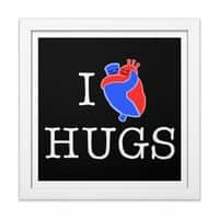 I Love Hugs - white-square-framed-print - small view