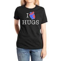 I Love Hugs - womens-extra-soft-tee - small view