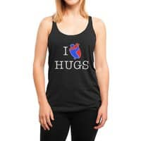 I Love Hugs - womens-triblend-racerback-tank - small view