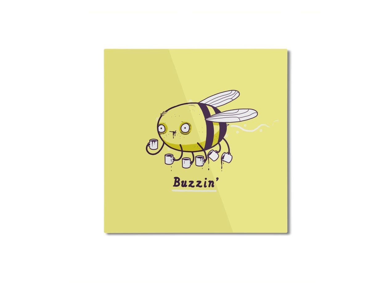 Buzzin\' by Aaron Jay | Square Mounted Aluminum Print Threadless