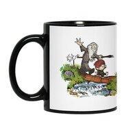 Halfling and Wizard - black-mug - small view
