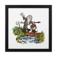 Halfling and Wizard - black-square-framed-print - small view