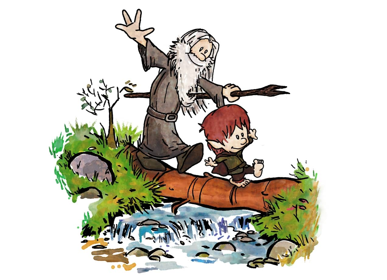 Halfling And Wizard By Cool Johnny Threadless