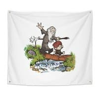 Halfling and Wizard - indoor-wall-tapestry - small view