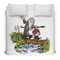 Halfling and Wizard - duvet-cover - small view