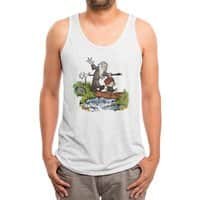 Halfling and Wizard - mens-triblend-tank - small view