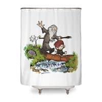 Halfling and Wizard - shower-curtain - small view