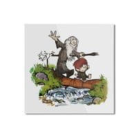 Halfling and Wizard - square-mounted-aluminum-print - small view
