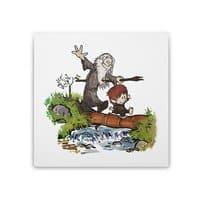 Halfling and Wizard - square-stretched-canvas - small view