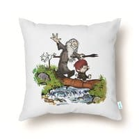 Halfling and Wizard - throw-pillow - small view