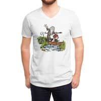 Halfling and Wizard - vneck - small view
