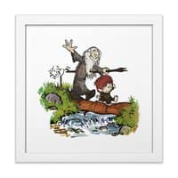 Halfling and Wizard - white-square-framed-print - small view