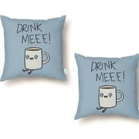 Drink Me Coffee - throw-pillow - small view
