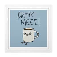 Drink Me Coffee - white-square-framed-print - small view