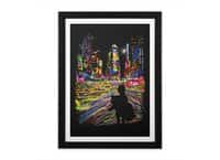 The City That Never Sleeps - black-vertical-framed-print - small view