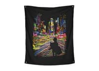 The City That Never Sleeps - indoor-wall-tapestry-vertical - small view