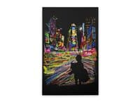 The City That Never Sleeps - vertical-stretched-canvas - small view
