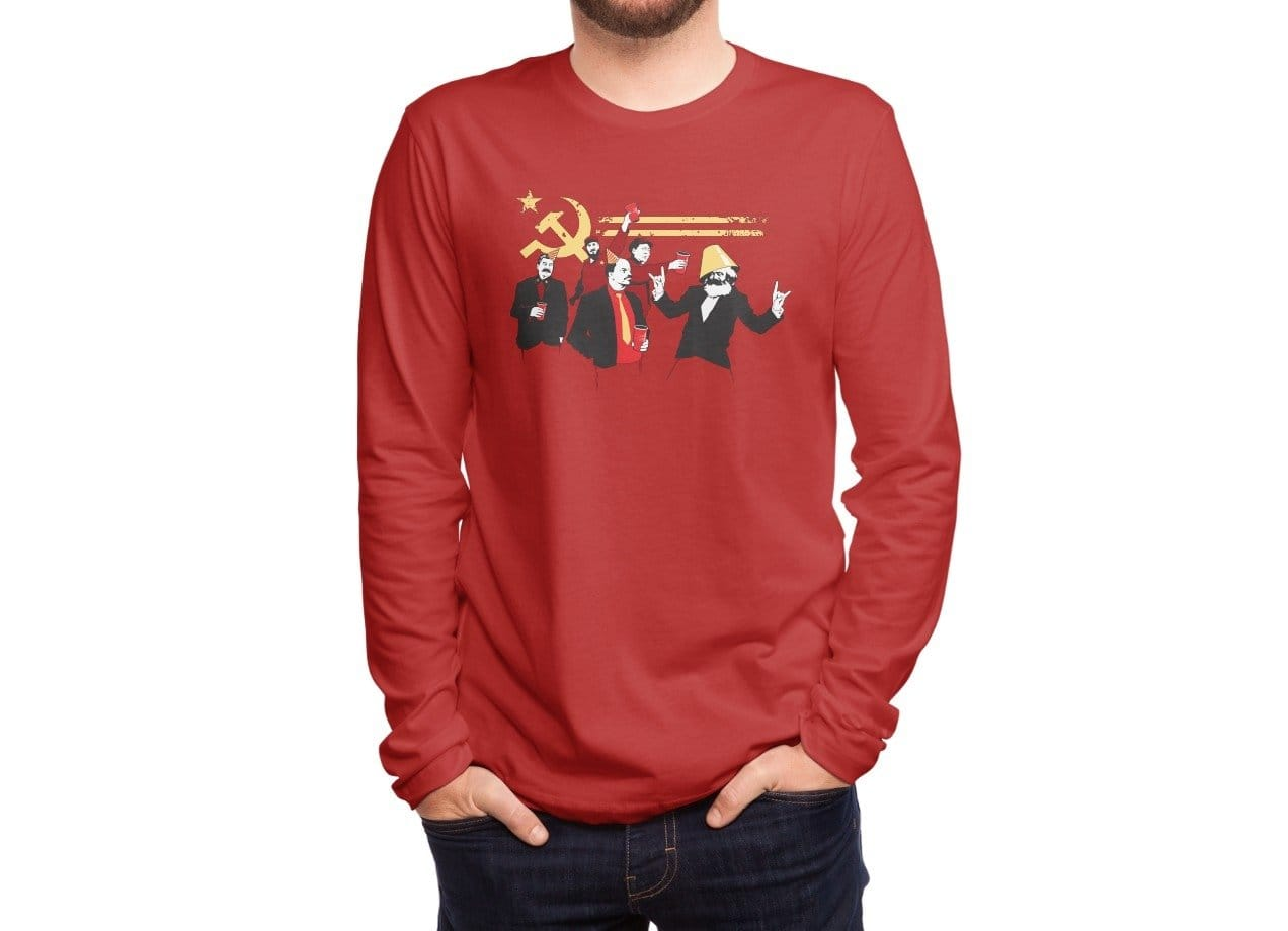 The Communist Party By Tom Burns Mens Extra Soft Tee Threadless Ironman Red Tees 2 8
