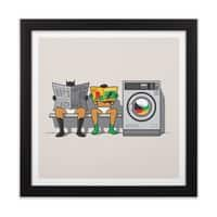 Alfred's Day Off - black-square-framed-print - small view
