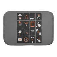 Pictures and Conversations - bath-mat - small view