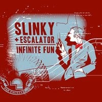 Slinky + Escalator = Infinite Fun - small view