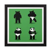 Bank Robbery Bear - black-square-framed-print - small view