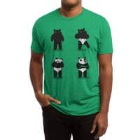 Bank Robbery Bear - mens-triblend-tee - small view