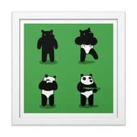 Bank Robbery Bear - white-square-framed-print - small view