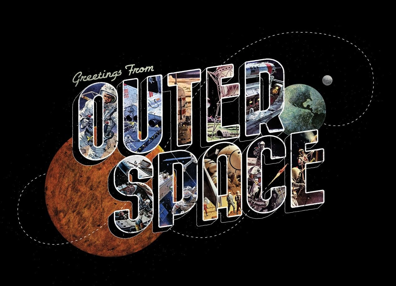 Greetings from outer space by eric zelinski threadless for Outer space stage design