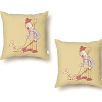 Cleaning Up - throw-pillow - small view