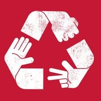 Rock Paper Scissors Recycled - small view