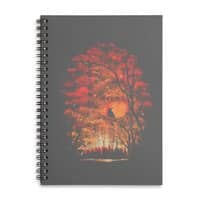 Burning in the Skies - spiral-notebook - small view