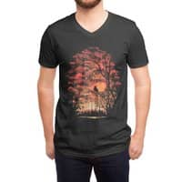 Burning in the Skies - vneck - small view
