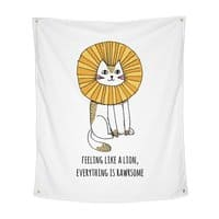 Everything is Rawrsome - indoor-wall-tapestry-vertical - small view