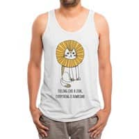 Everything is Rawrsome - mens-triblend-tank - small view