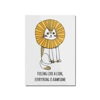 Everything is Rawrsome - vertical-mounted-acrylic-print - small view