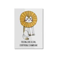 Everything is Rawrsome - vertical-mounted-aluminum-print - small view