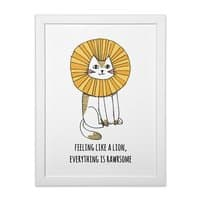 Everything is Rawrsome - white-vertical-framed-print - small view
