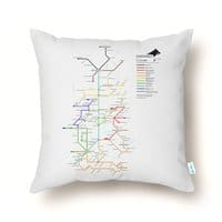 The Bus is Coming. - throw-pillow - small view
