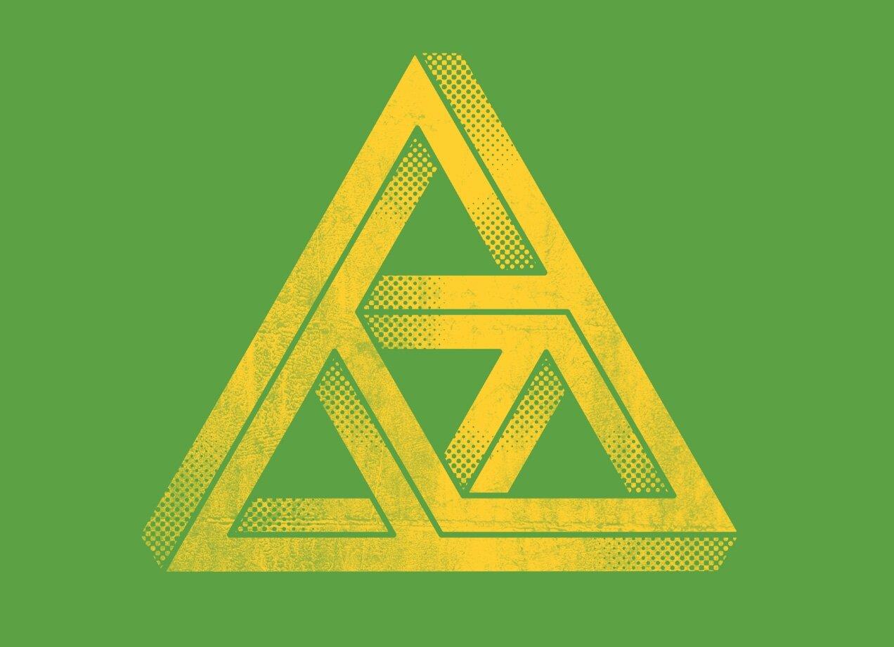 Penrose Triforce By John Tibbott Mens Extra Soft Tee