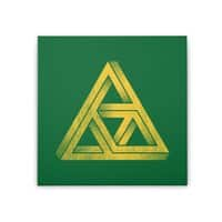 Penrose Triforce - square-stretched-canvas - small view