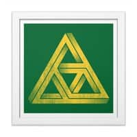 Penrose Triforce - white-square-framed-print - small view