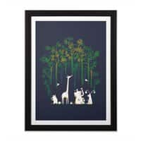 Meanwhile In The Woods - black-vertical-framed-print - small view