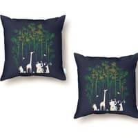 Meanwhile In The Woods - throw-pillow - small view