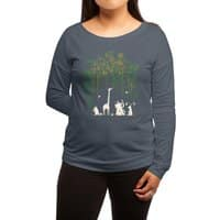 Meanwhile In The Woods - womens-long-sleeve-terry-scoop - small view