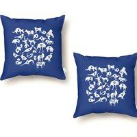 Alphabet Zoo - throw-pillow - small view