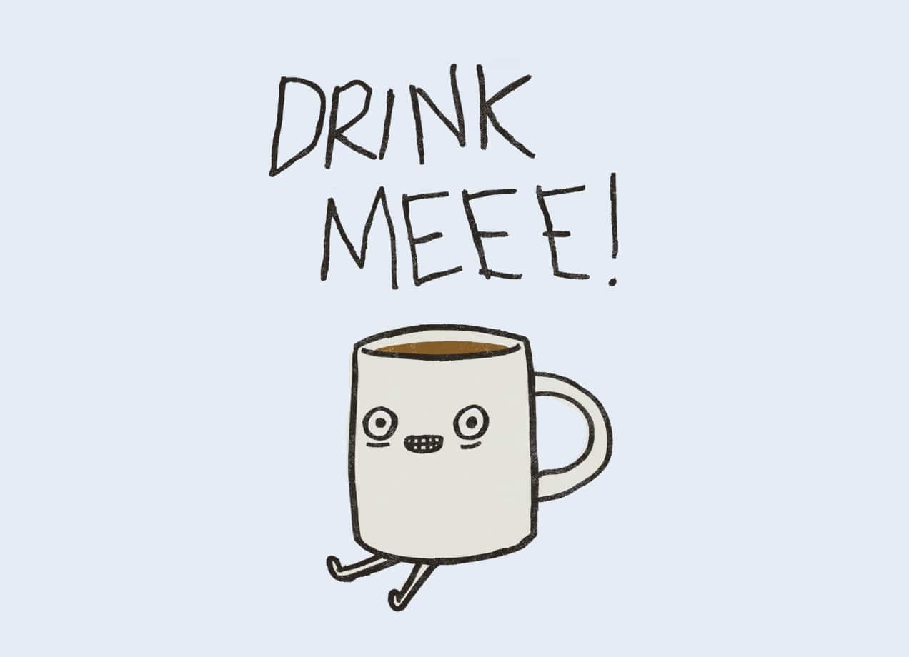 Drink me coffee by phil jones threadless - Bathroom tile design ideas to avoid the culture misconception ...