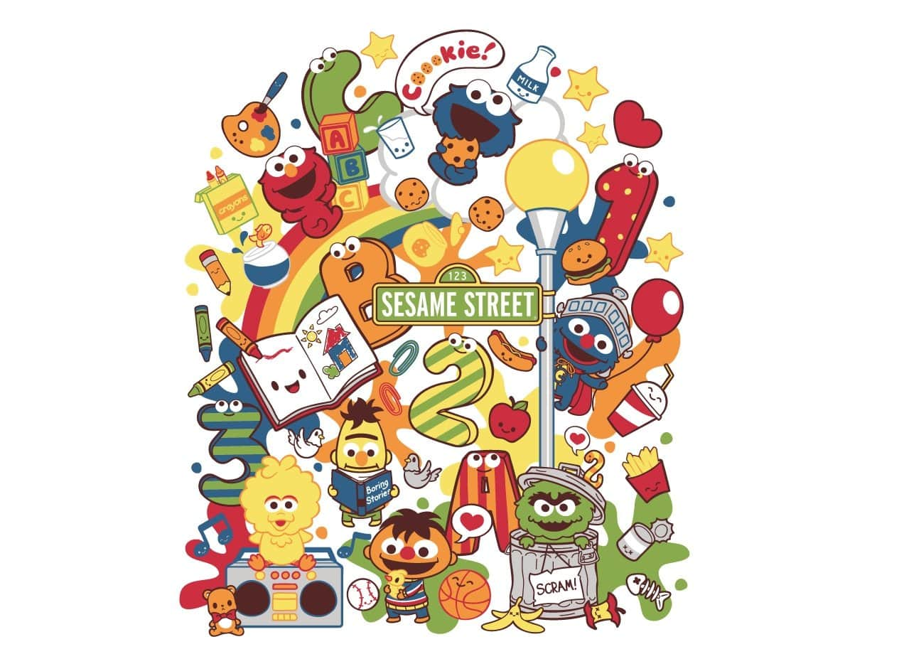 Growing Up with Colors at Sesame Street by Michele Liza Pelayre | Threadless
