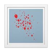 99 Luftballons - white-square-framed-print - small view